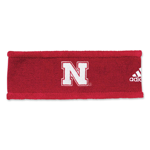 Nebraska Coaches Red Ear-Band by Adidas