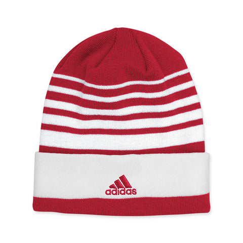 2015 Official Coaches Cuffed Knit Beanie by Adidas - Red