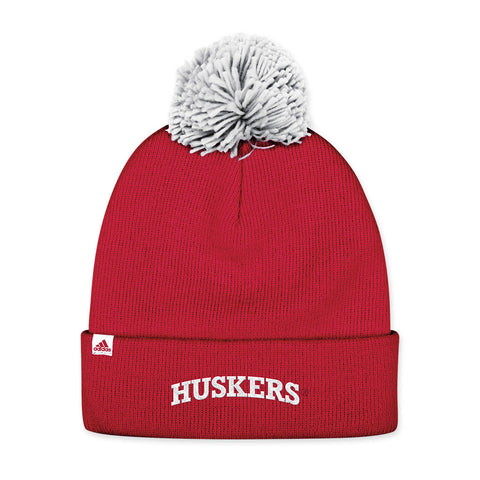 Nebraska Huskers Red Knit Stocking Hat by Adidas