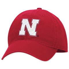 Red Nebraska Huskers Fitted Hat by Adidas