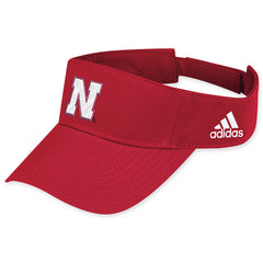 Red Nebraska Huskers Coach's Visor by Adidas