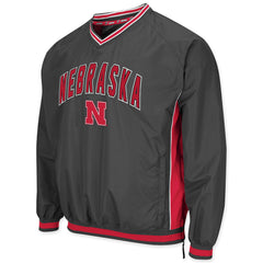 Nebraska Huskers Charcoal Windbreaker Jacket