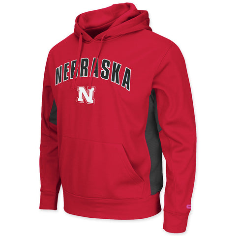 Nebraska Huskers Red Mens Performance Hoodie