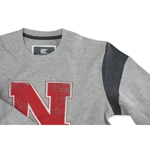 Nebraska Huskers Ribbed Cotton Long Sleeve Tee