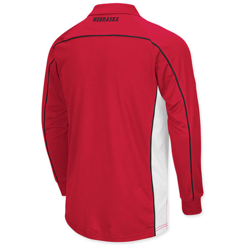 Nebraska Huskers Mens Long Sleeve Polo