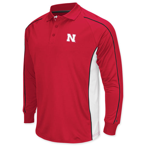Nebraska Huskers Long Sleeve Polo