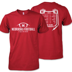 Nebraska Huskers Football 2015 Schedule Tee