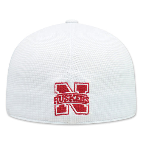 Flexfit White Nebraska Huskers Hat