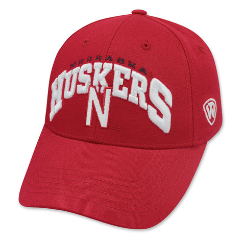 Nebraska Huskers Red Adjustable Hat