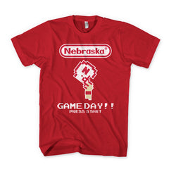 Huskers Football Pixel Gamer Tee