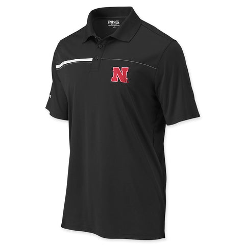 Nebraska Huskers Ping Black Polo