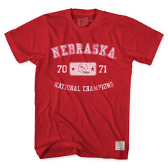 Nebraska Huskers 1970-71 National Champions Tees