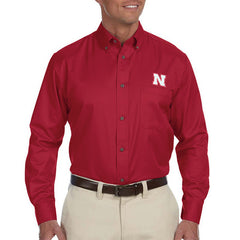 Nebraska Huskers Red Dress Shirt Button Down