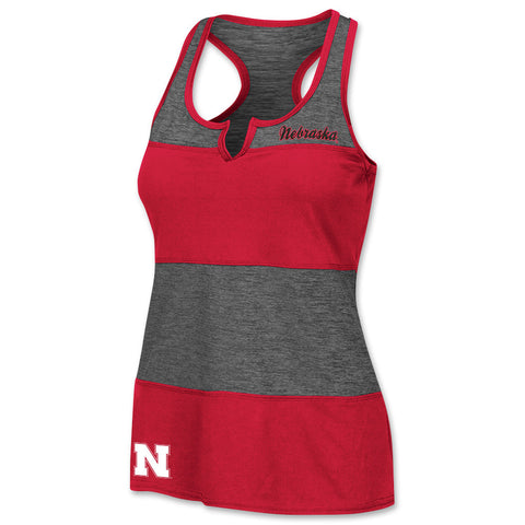 Womens University of Nebraska Stripe Tank Top