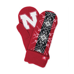 Womens Nebraska Mittens by Adidas