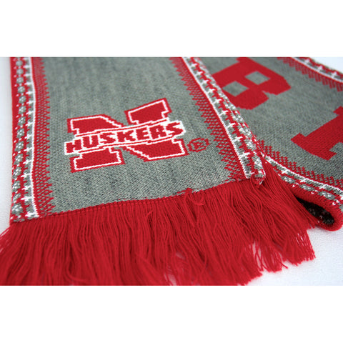 Nebraska Huskers Knit Winter Scarf