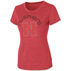 Womens Nebraska Huskers Rhinestone Tee by Touch