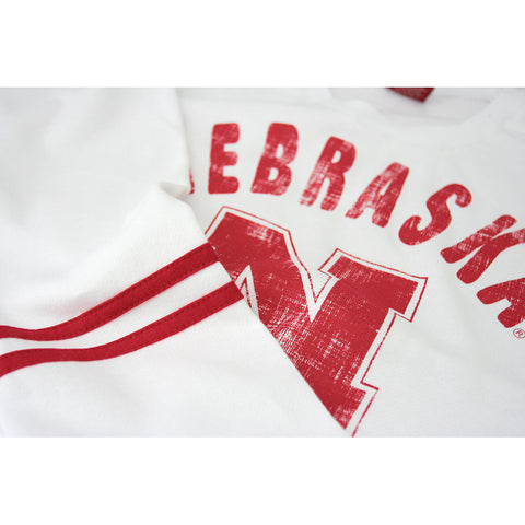 Ladies Nebraska Huskers Scoop Neck Fleece