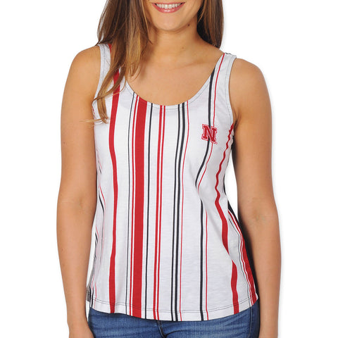 Ladies Nebraska Stripe Tank Top