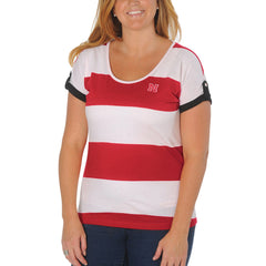 Nebraska Huskers Striped Dolman Top