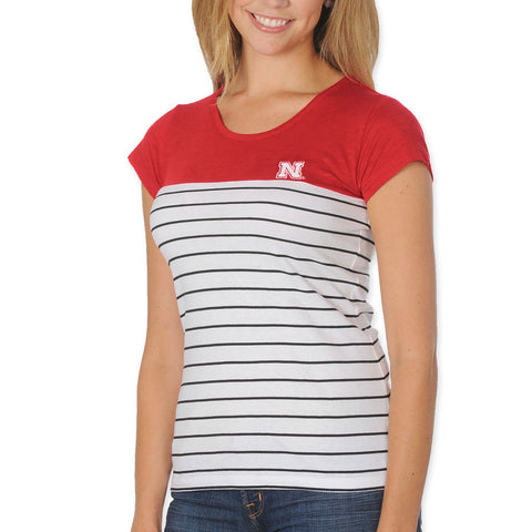 Nebraska Huskers Womens Striped Top