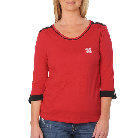 Ladies Nebraska Huskers Fashion TOp