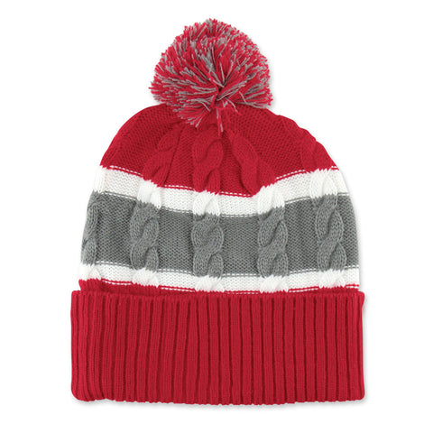 Nebraska Women's Cuff Knit Pom Hat
