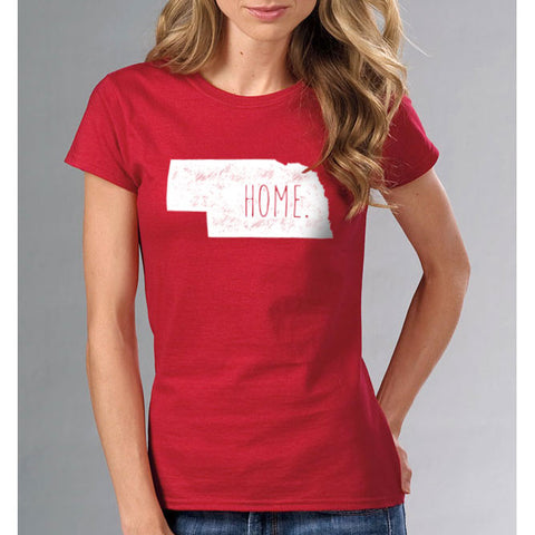 Womens Nebraska State Home Tee