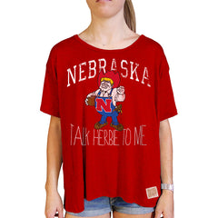 Talk Herbie To Me Nebraska Swing Tee - Red - SS