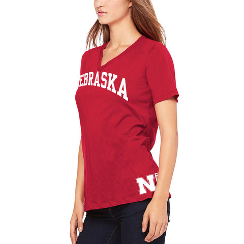 Womens Huskers V-Neck Wrap Tee