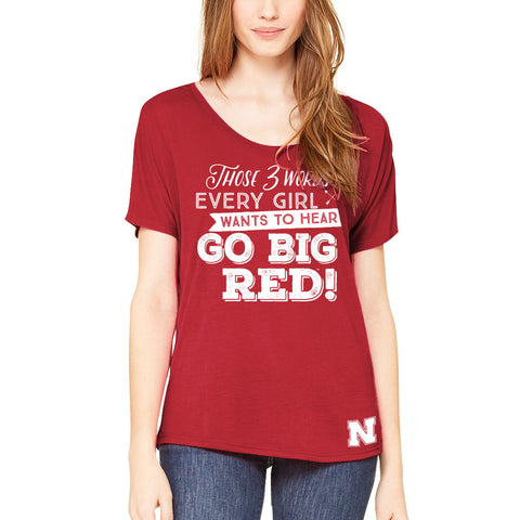 2 Words Every Girl Wants to Hear Big Red Tee