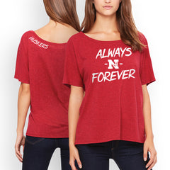 Nebraska Forever Scoop Neck Top - Red - SS