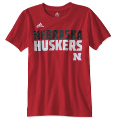 Youth Nebraska Shock Energy Tee by Adidas - Red - SS