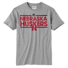Youth Nebraska Football Tee - SS - Grey