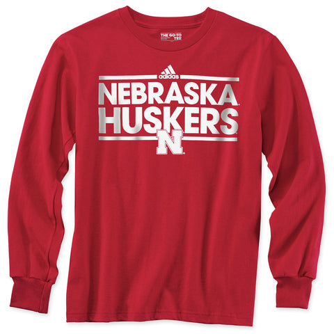 Youth Boys Nebraska Huskers Long Sleeve Tee