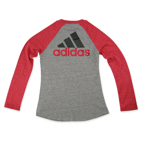 Nebraska Huskers Youth Girls Adidas Raglan Tee