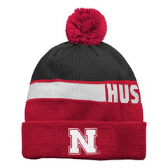 Nebraska Huskers Youth Boys Pom Knit Hat