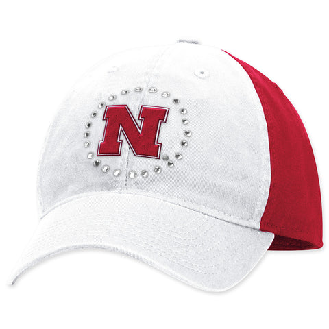 Nebraska Youth Girls Bling Hat by Adidas