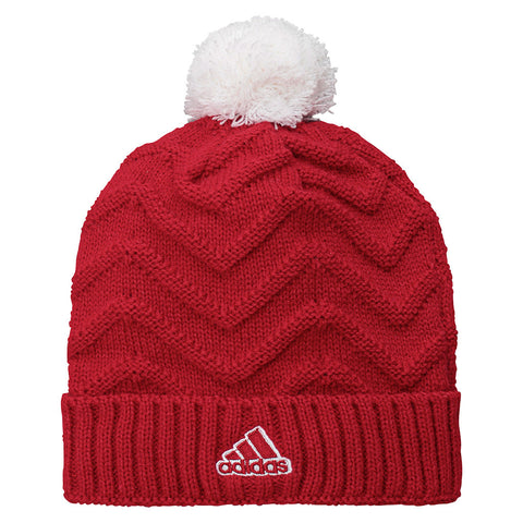 Youth Girls Adidas Cuff Knit Pom Hat