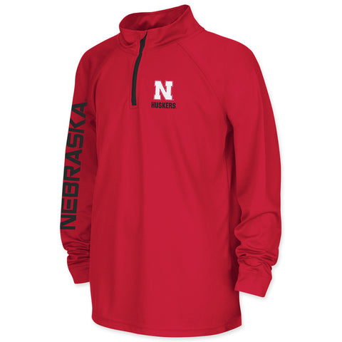 Nebraska Huskers Youth Boys Performance Zip