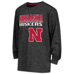 Youth Nebraska Cornerback Performance Tee - Black - LS