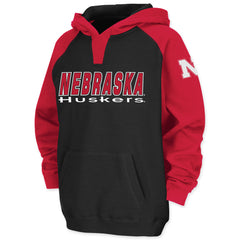 Youth Boys Black Nebraska Huskers Hoodie