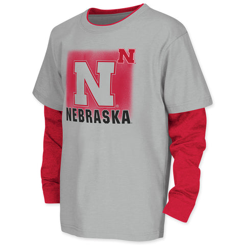 Youth Boys Nebraska Huskers Layered Tee