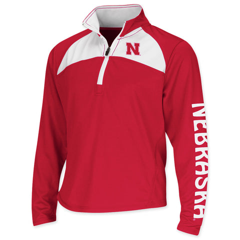 Youth Girls Huskers Performance High Flyer Pullover