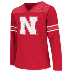 Nebraska Huskers Youth Girls Zebra Tee