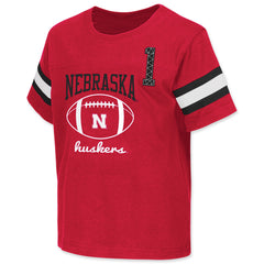 Nebraska Huskers Football Toddler Jersey Tee