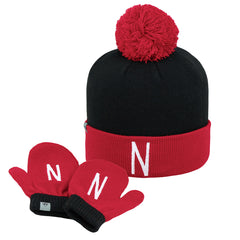 Nebraska Huskers Toddler Mitten and Hat Set