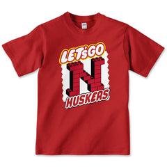 Youth Boys Lets Go Nebraska Tee