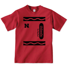 Nebraska Big Red Crayon Tee