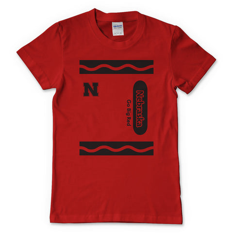 Youth nebraska Huskers Color Big Red Tee